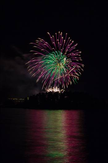 Dillon Reservoir Fireworks 2015 20 by D Scott Smith
