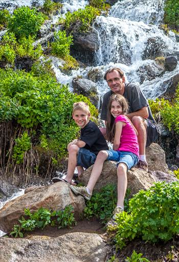 Rocky Mountain National Park Self Portrait - A self portrait of me and my children, in 2011. Shot with a wireless remote trigger.