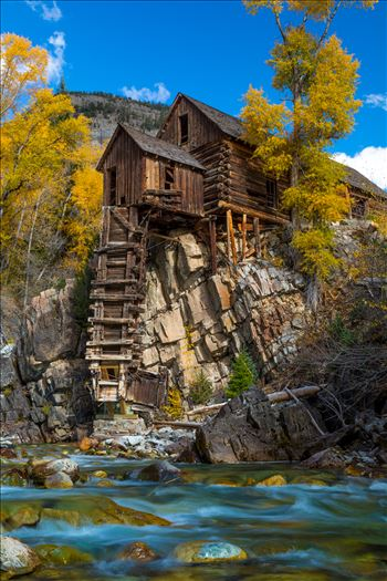Crystal Mill No 4 - The Crystal Mill, or the Old Mill is an 1892 wooden powerhouse located on an outcrop above the Crystal River in Crystal, Colorado