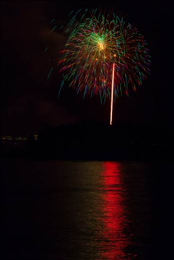 Dillon Reservoir Fireworks 2015 45 by D Scott Smith