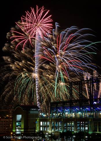 Fireworks over Coors Field 7 by D Scott Smith
