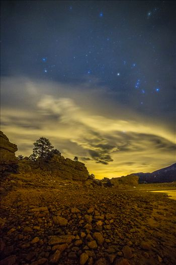 Mary's Lake At Night by D Scott Smith