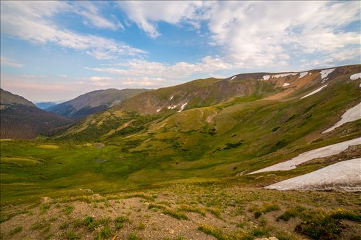 Near the summit of Trail Ridge Road in Rocky Mountain National Park, the Alpine Visitor's Center offers some astounding views.