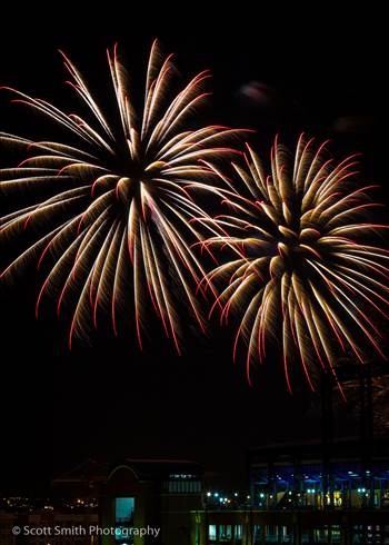 Fireworks over Coors Field 2 by D Scott Smith