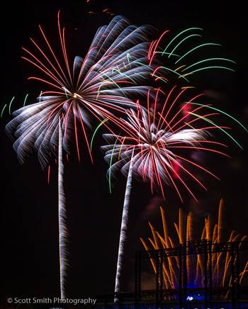 Fireworks over Coors Field by D Scott Smith