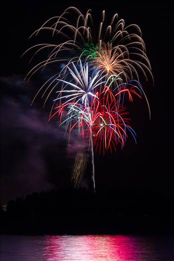 Dillon Reservoir Fireworks 2015 3 by D Scott Smith