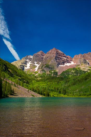 Maroon Bells in Summer No 01 by D Scott Smith