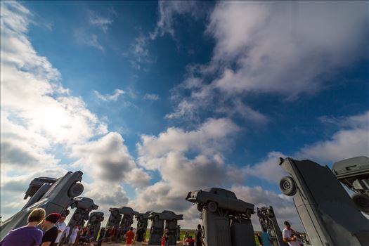 2017 Solar Eclipse 01 - Total solar eclipse, at Carhenge in Alliance. Nebraska August 21, 2017.