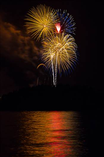 Dillon Reservoir Fireworks 2015 43 by D Scott Smith