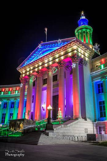 Denver County Courthouse at Christmas by D Scott Smith
