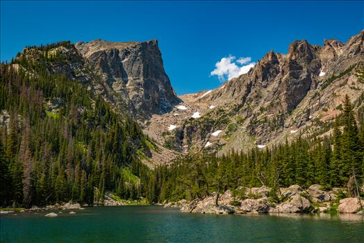 Hallett Peak from Dream Lake by D Scott Smith