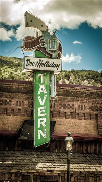 Doc Holliday Tavern in Glenwood Springs - The famous sign for the Doc Holliday Tavern in Glenwood Springs