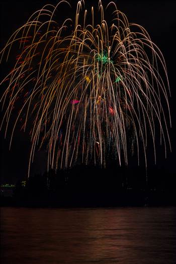 Dillon Reservoir Fireworks 2015 48 by D Scott Smith