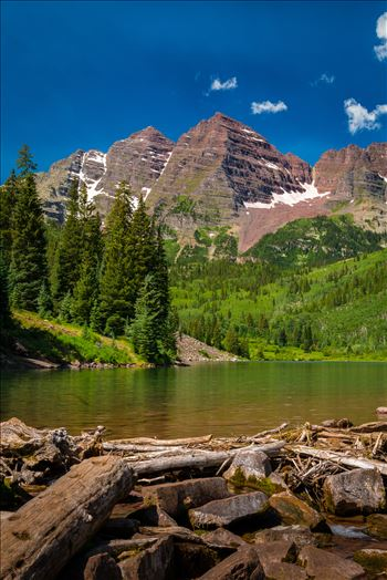 Maroon Bells in Summer No 10 by D Scott Smith
