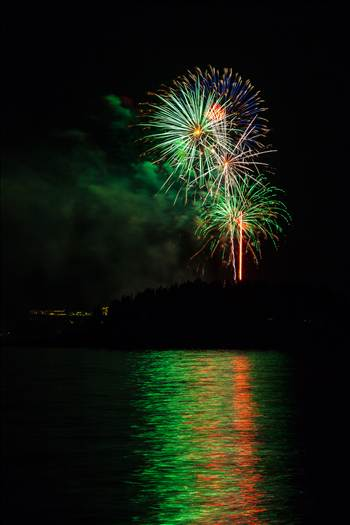 Dillon Reservoir Fireworks 2015 21 by D Scott Smith