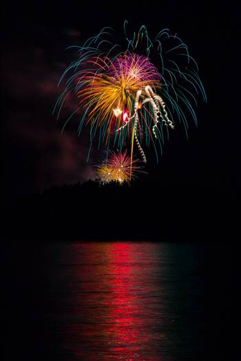 Dillon Reservoir Fireworks 2015 41 by D Scott Smith