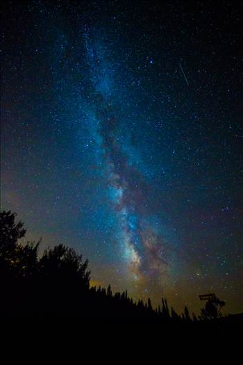 Milky Way and Perseids from Ward by D Scott Smith