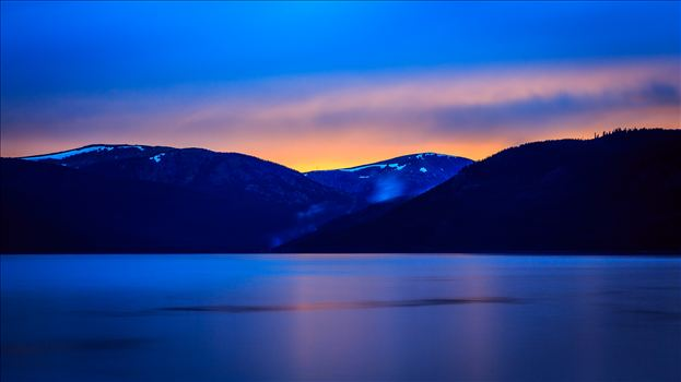 Sunset on Turquoise I - Sunset on the calm protected waters of Turqouise Lake, Leadville Colorado.