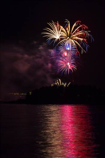 Dillon Reservoir Fireworks 2015 27 by D Scott Smith
