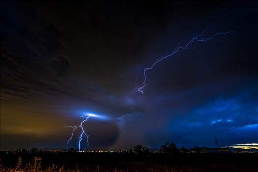 Lightning Flashes 5 by D Scott Smith