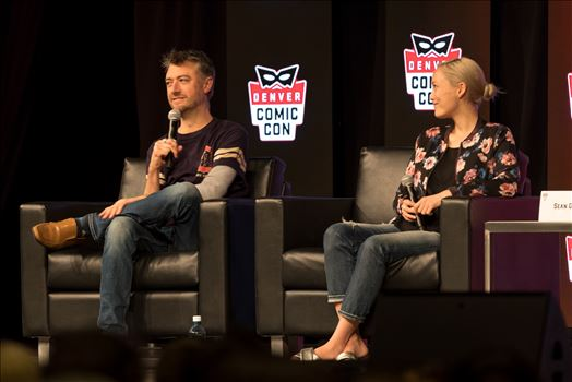 Guardians of the Galaxy's Sean Gun and Pom Klementieff at Denver Comic Con 2018 No 2 by D Scott Smith
