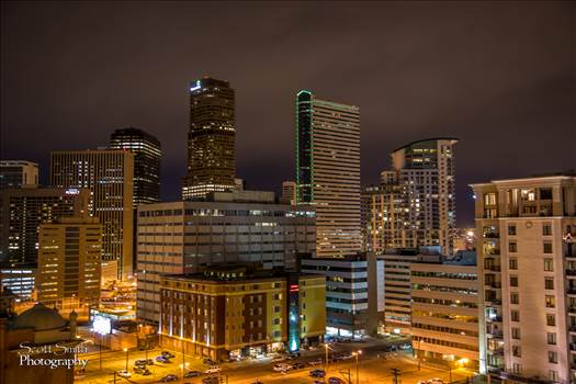 Denver at Night No 4 by D Scott Smith