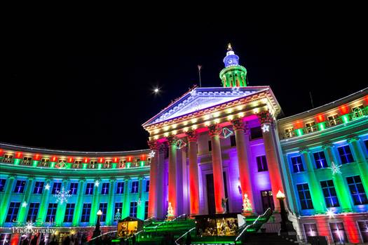 Denver County Courthouse at Christmas 1 - The Denver County Courthouse at Christmas, Denver CO.