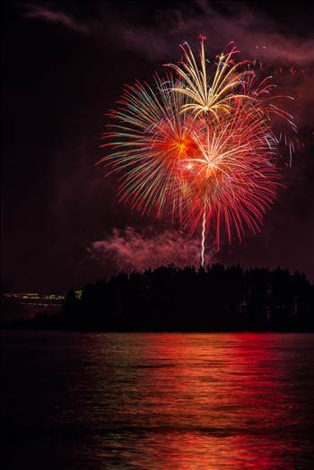 Dillon Reservoir Fireworks 2015 47 by D Scott Smith