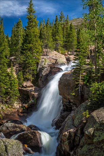 Alberta Falls No 2 - From the Rocky Mountain National Park, near Estes Park, Colorado.