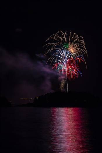 Dillon Reservoir Fireworks 2015 33 by D Scott Smith