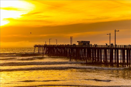 Sunset on the Pier by D Scott Smith