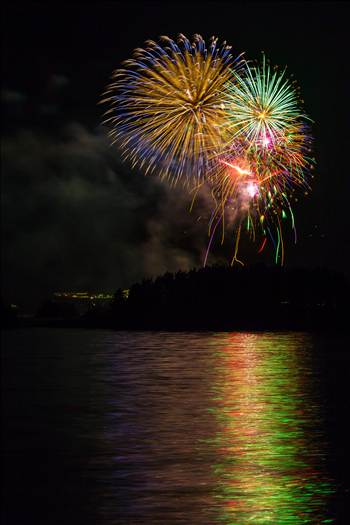 Dillon Reservoir Fireworks 2015 16 by D Scott Smith