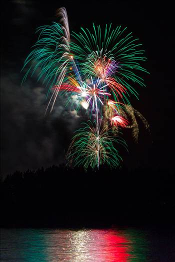 Dillon Reservoir Fireworks 2015 6 by D Scott Smith