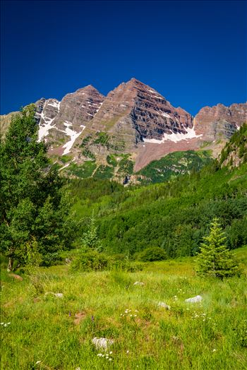 Maroon Bells in Summer No 05 by D Scott Smith