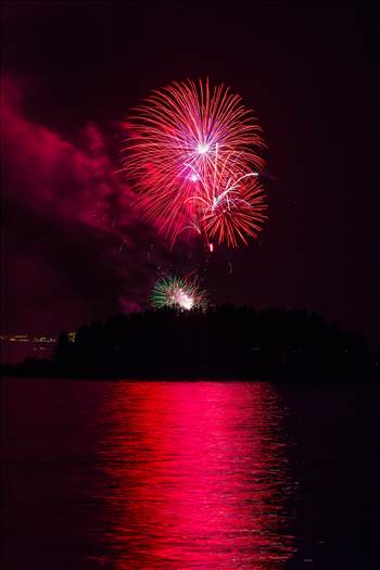 Dillon Reservoir Fireworks 2015 40 by D Scott Smith