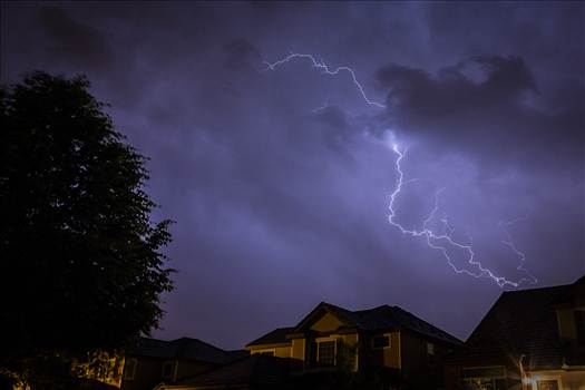 Neighborhood Lightning 2 by D Scott Smith