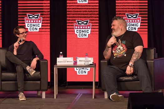 Game of Thrones'-  Bran and Hodor, Isaac Hempstead Wright and Kristian Nairn at Denver Comic Con 2018 by D Scott Smith