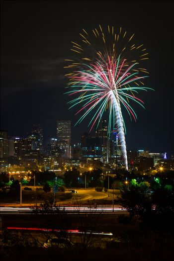 Elitch's Fireworks 2016 - 7 - Fireworks from Elitch Gardens, taken near Speer and Zuni in Denver, Colorado.