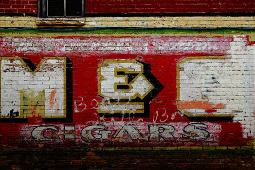 Old Signage in Alley by D Scott Smith