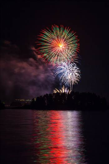 Dillon Reservoir Fireworks 2015 18 by D Scott Smith