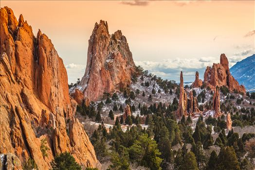 Garden of the Gods Spires No 4 by D Scott Smith