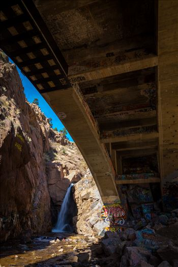 Rainbow Falls - Rainbow Falls, also known as Graffiti Falls, in Manitou Springs, Colorado.