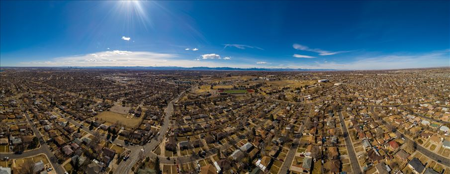 Panoramic aerial shot of Thornton, Colorado by D Scott Smith