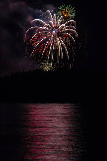 Dillon Reservoir Fireworks 2015 37 by D Scott Smith