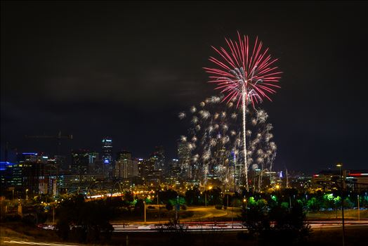 Elitch's Fireworks 2016 - 2 - Fireworks from Elitch Gardens, taken near Speer and Zuni in Denver, Colorado.