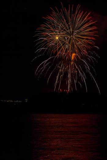 Dillon Reservoir Fireworks 2015 50 by D Scott Smith