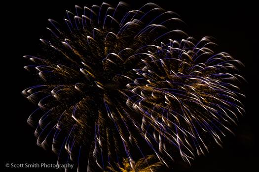 Fireworks in Denver 3 by D Scott Smith