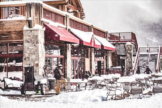 Copper Mountain - Taking a break from shredding at Copper Mountain, Colorado.