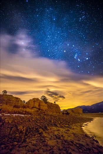 Mary's Lake At Night 2 by D Scott Smith