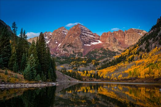Maroon Bells Before Sunrise Wide by D Scott Smith